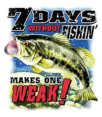 Fishing T-Shirt: 7 Days Without Fishing