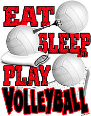Pure Sport Volleyball T-Shirt: Eat Sleep Volleyball
