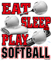 Softball T-Shirt: Eat Sleep Softball