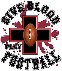 Pure Sport Football T-Shirt: Give Blood Football