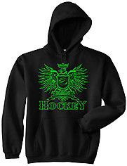 Hooded Hockey Sweatshirt: Play Hard Eagle