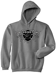 Hooded Hockey Sweatshirt: Hockey Sheild