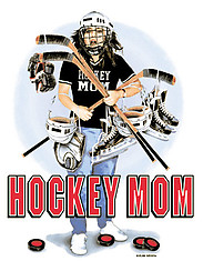Hooded Hockey Sweatshirt: Hockey Mom Gear