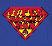 Hooded Sweatshirt: Super Hockey Mom