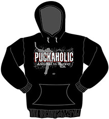 Hooded Hockey Sweatshirt: Puckaholic
