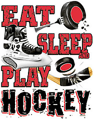 Pure Sport Hockey T-Shirt: Eat Sleep Hockey