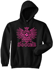 Pure Sport Hooded Soccer Sweatshirt: Girls Eagle