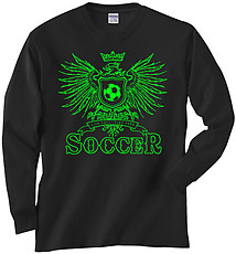 Long Sleeve Soccer T-Shirt: Play Hard Eagle