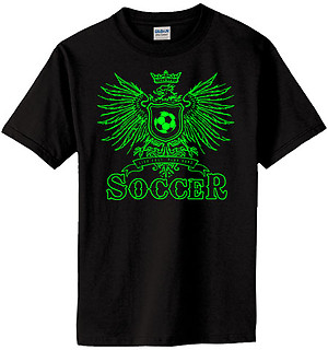 Pure Sport Soccer T-Shirt: Play Hard Eagle