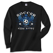 Long Sleeve Soccer T-Shirt: Soccer Eagle