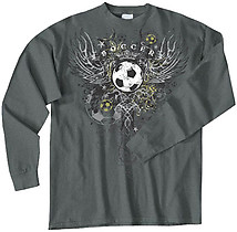 Long Sleeve Soccer T-Shirt: Soccer Wings
