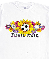 Soccer T-Shirt: Flower Power