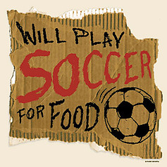 PureSport Soccer T-Shirt: Play Soccer For Food