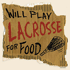 PureSport Lacrosse T-Shirt: Lacrosse For Food