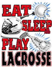 Lacrosse T-Shirt: Eat Sleep Lacrosse