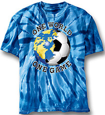 Soccer T-Shirt: One World Tie Dye