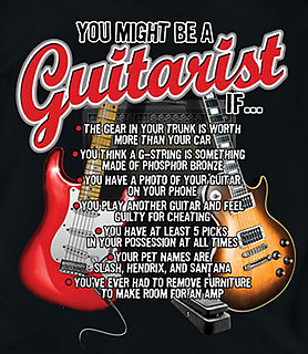 Coed Sportswear Music T-Shirt: You Might Be A Guitarist