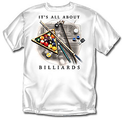 Coed Sportswear Billiards T-Shirt: It's All About Billiards