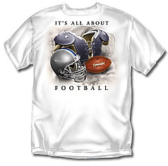 Coed Sportswear Football T-Shirt: All About Football