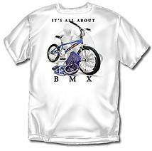 BMX T-Shirt: All About BMX Biking - Youth
