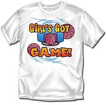 Youth Basketball T-Shirt: Girls Got Game