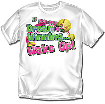 Youth Softball T-Shirt: Dream Winning Softball