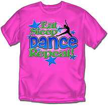 Youth Dance T-Shirt: Eat Sleep Dance