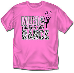 Coed Sportswear Youth Dance T-Shirt: Music Makes Me Dance
