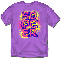 Youth Soccer T-Shirt: Faded Soccer