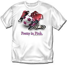 Soccer T-Shirt: Pretty In Pink