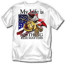Firefighter T-Shirt: My Life Firefighting