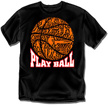 Youth Basketball T-Shirt: Play Ball Mosaic Basketball