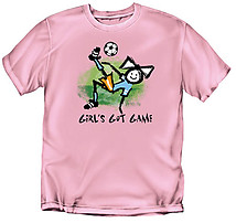 Girls Soccer T-Shirt: Girl's Got Game