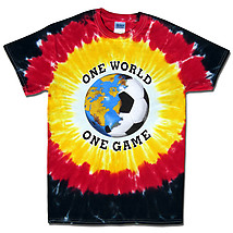 Germany World Cup Soccer One World Tie Dye T-Shirt