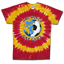 Spain World Cup Soccer One World Tie Dye T-Shirt