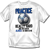 Youth Soccer T-Shirt: Practice Hard Soccer