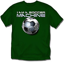 Youth Soccer T-Shirt: Soccer Machine