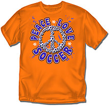 Youth Soccer T-Shirt: Peace Love Soccer