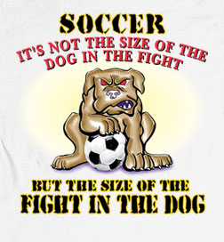 Long Sleeve Soccer T-Shirt: Fight in Dog Soccer