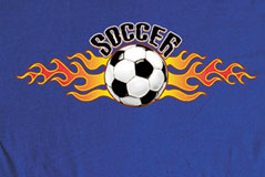 Long Sleeve Soccer T-Shirt: Soccer Flame