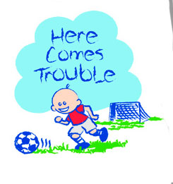 Soccer T-Shirt: Here Comes Trouble (Infant/Toddler)