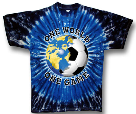 Pure Sport Soccer T-Shirt: One World Soccer Tie Dye