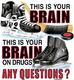 Pure Sport Long Sleeve Hockey T-Shirt: Brain On Drugs